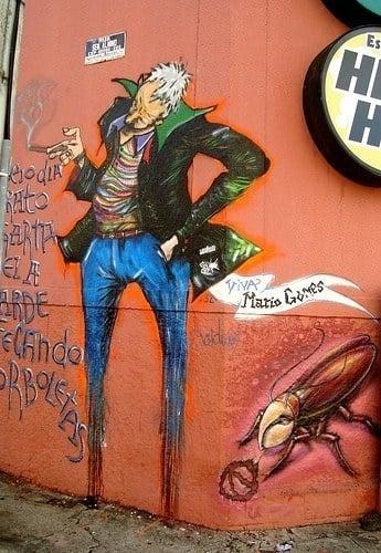 Graffiti artists Grupo Acidum celebrate the poet Mario Gomez in this artistic street art mural