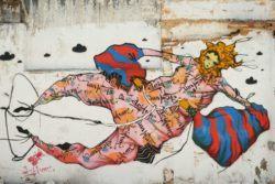 Latin American graffiti artists Grupo Acidum merge their art skills to create this unusual mural