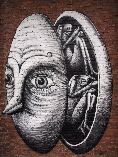 Street artist Phlegm reveals what happens behind the mask that most people wear in life