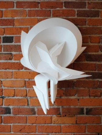Surrender, made out of PVC by 3D graffiti artist Peeta