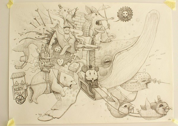 The North Pole is for sale in this pop surrealist sketch Dulk